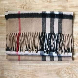 Burberry Checked Cashmere Scarf
