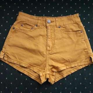 Ziggy Yellow Denim Shorts