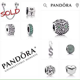 PRE-LOVED AUTHENTIC PANDORA CHARMS