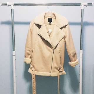 F21 SHEARLING COAT