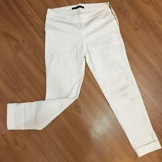 ZARA Basic White Pants