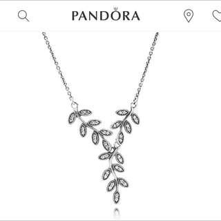 PANDORA Shimmering Leaves Necklace
