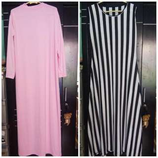 Dress Stripes Dan Inner Gamis (Take All 50k)