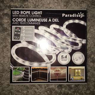 Led rope light( white lights for outdoors)