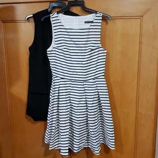 Zara Basic Black And White Stripes