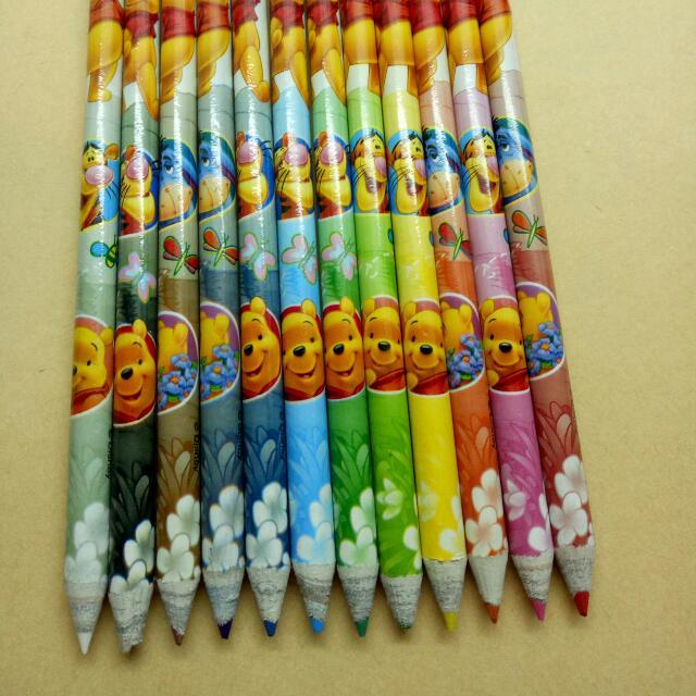 小熊維尼環保12色色鉛筆