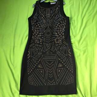 Black Bead And Sequin Dress