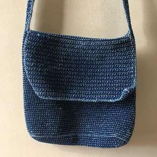 Blue Denim Bag
