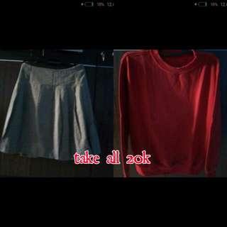 Take All 20k Rok&sweter Merah