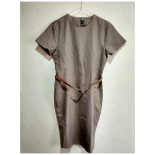 Plain Bodyfit Office Dress