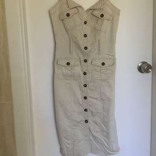 Sheike Size 10 Tan Dress