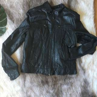 Genuine Leather Jacket Just Jeans