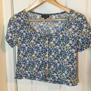Floral Top shop Crop