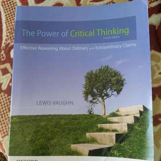 The Power Of Critical Thinking Text Book By Lewis Vaughn