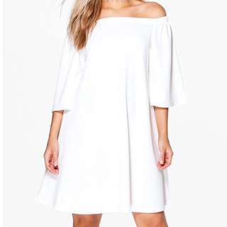 Boohoo Off Shoulder Swing Dres