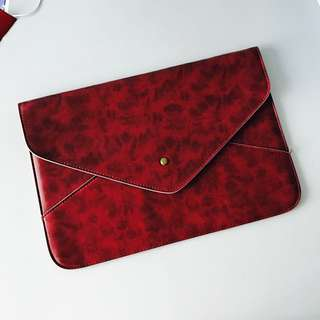 "Authentic Leather Pouch For MacBook Air (11"" or 12"") 牛皮包"