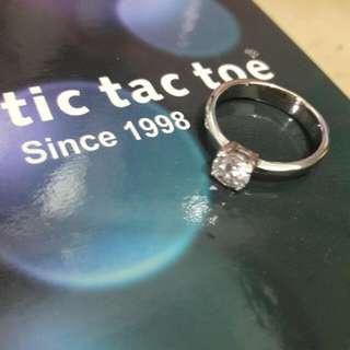 Tic tac toe 鋯石戒指,,5號