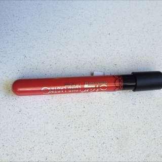 Red liquid lipstick