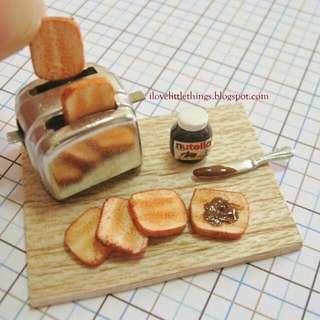 Miniature Nutella Toast