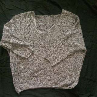 Knitted Gray Pull Over