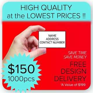 Name Card Design & Printing