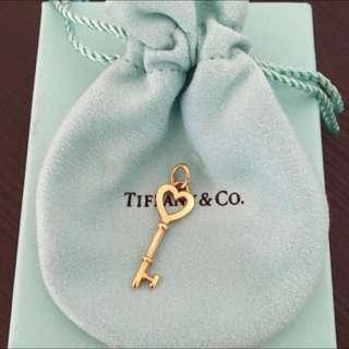 Authentic Tiffany & Co 18Y Gold Key Charm Pendant