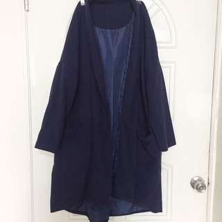 長版深藍外套