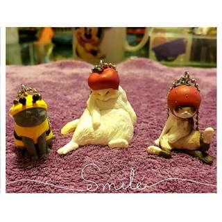 客訂勿下單【售 趣味帽子貓系列】 《蘋果貓🍎+蜂蜜貓🐝+草莓貓🍓》