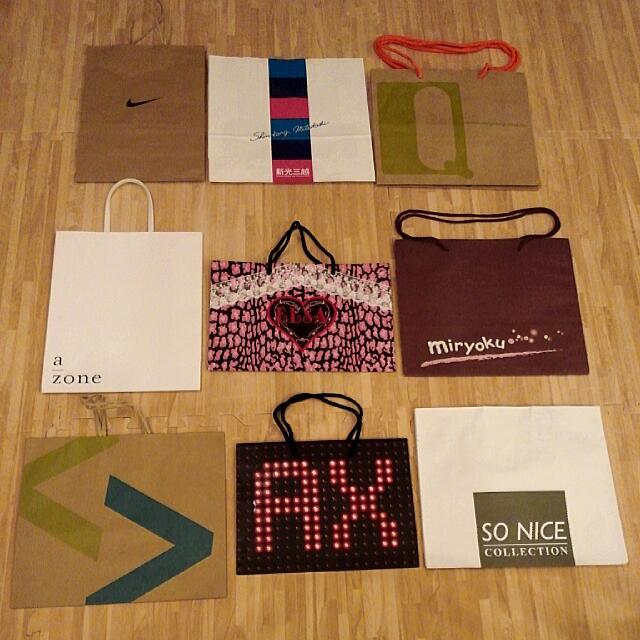 15元起↑↑ 名牌紙袋/手提袋/包裝袋
