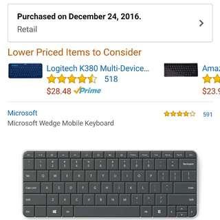 Microsoft Wedge Keyboard