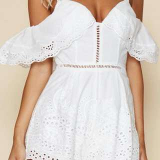 S6 Sweet White Playsuit