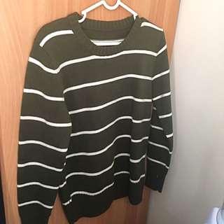 橫條紋毛衣 針織衫