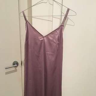Mauve Slip Dress - Long