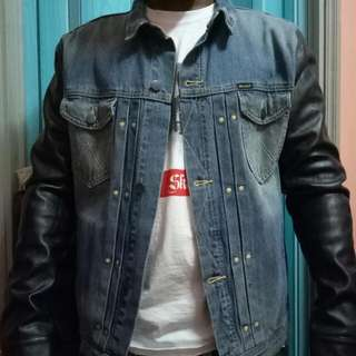Wrangler Denim and leather jacket
