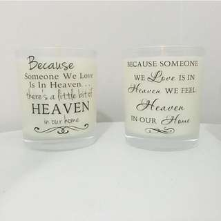 Heaven Quote Candle