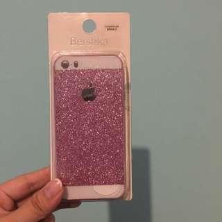 Bershka Iphone 5/5S Case - Pink Glitter