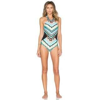 Aztec Blue One Piece Swimsuit