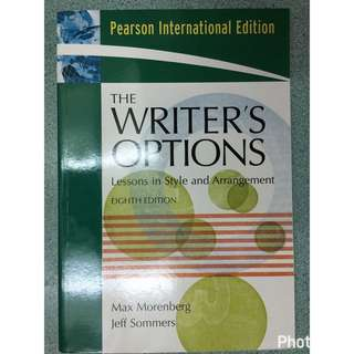 🚚 The Writer's Options