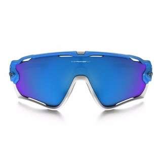 660652d56df Authentic Brand New in Box Mens Oakley Jaw breaker Sky Blue Shield Sapphire  Iridium Sunglasses OO9290