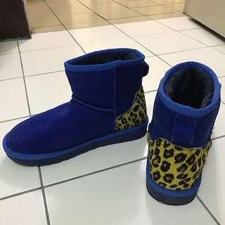 ❤️特價百貨專櫃購入)藍色撞色雪靴