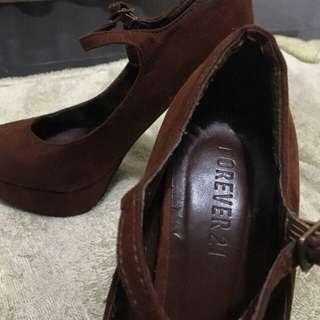 Forever21 Brown Heels