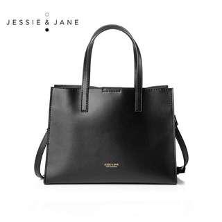 Jessie Jane Simple Split Leather Small - Black