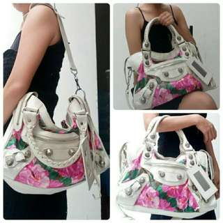 Authentic Balenciaga City Floral Limited Edition Bag Original Second Preloved Tas Wanita