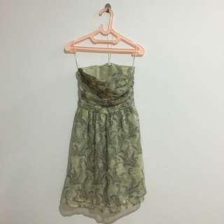 Mango Pasley Tube Dress Mini Sleveless