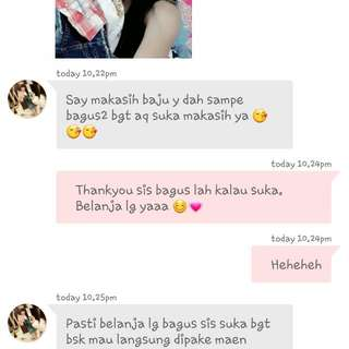 TESTIMONI SATISFIED CUST 😊🙆💗💗