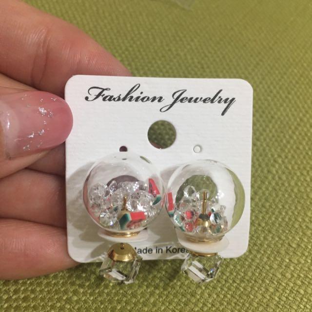 夏日水果風🍉西瓜鑽石耳環