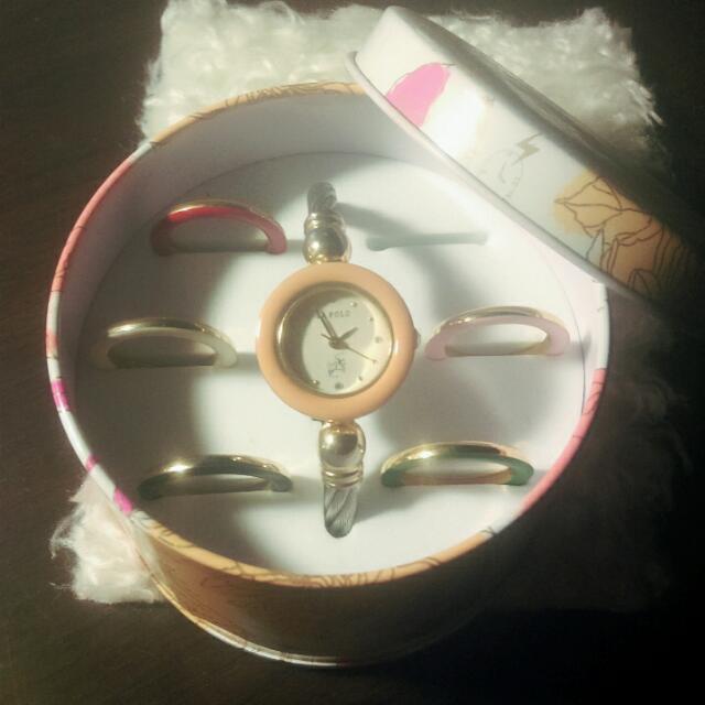 日本品牌變色金屬環手錶