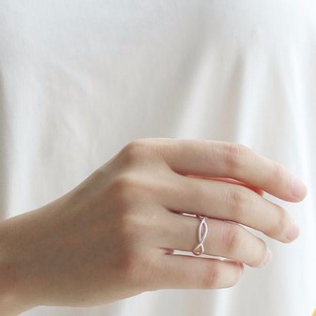 纏繞開口戒指