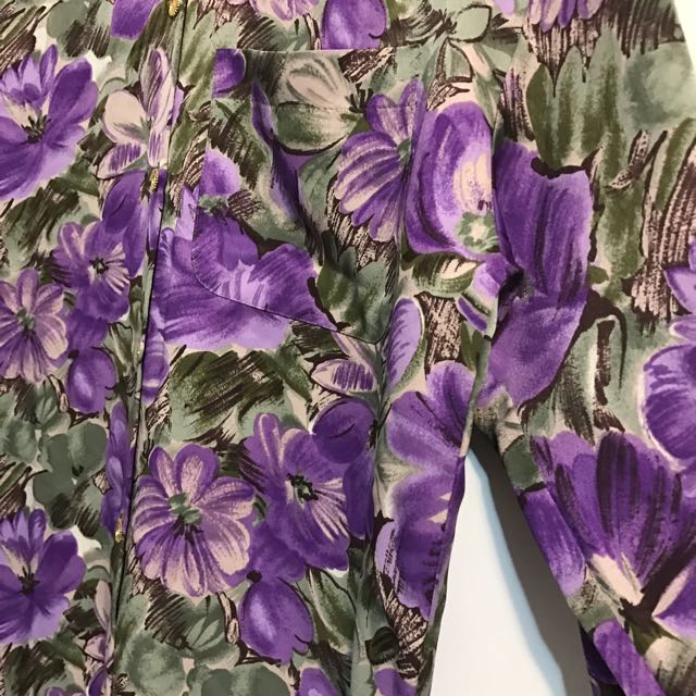 #兩百元襯衫 古著襯衫 滿滿的花!