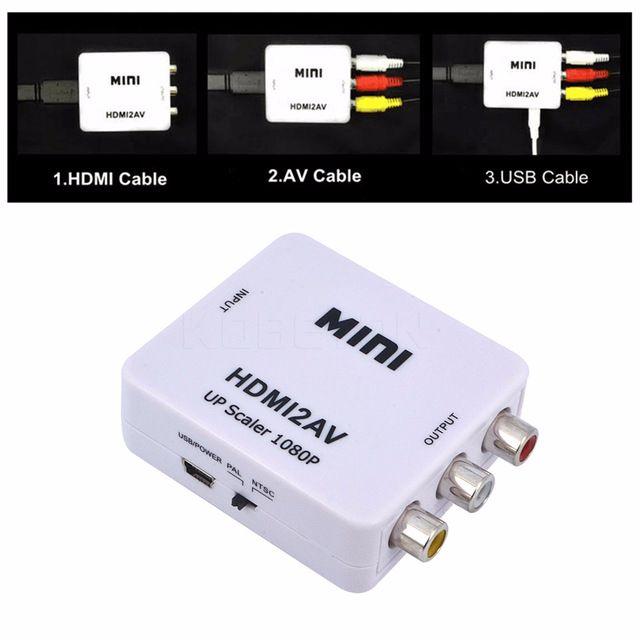 Hdmi to av rca converter mini portable hdmi2av rca adapter hdmi hdmi to av rca converter mini portable hdmi2av rca adapter hdmi switcher video convertor with upscaler to 1080p color white publicscrutiny Image collections